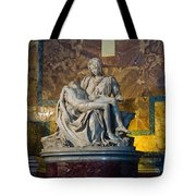 Pieta By Michelangelo Circa 1499 Ad Tote Bag