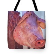 Pig In The Market Tote Bag