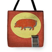 Pig On A Wall Tote Bag