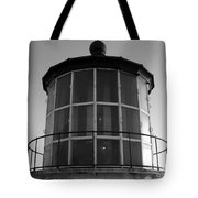 Pigeon Point Lighthouse Beacon - Black And White Tote Bag