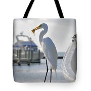 Piggy Perch For Breakfast Tote Bag