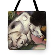 Pigs Tote Bag by Franz Marc
