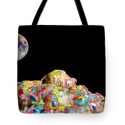 Pile Of Color In Space Two K O Four Tote Bag