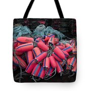 Pile Of Pink And Blue Buoys Tote Bag