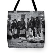 Pilgrim Prostration Tote Bag by Joan Carroll
