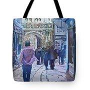 Pilgrims At The Gate Tote Bag