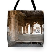 Pillars Of Building Inside Red Fort Tote Bag