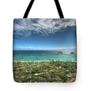 Pillbox View Of Mokulas Tote Bag