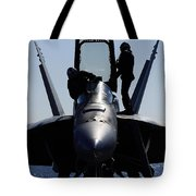 Pilots Conducts A Pre-flight Inspection Tote Bag