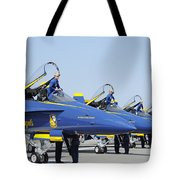 Pilots Of The Blue Angels Flight Tote Bag