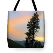 Pine And A Painted Sky Tote Bag
