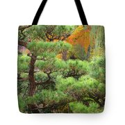Pine And Autumn Colors In A Japanese Garden II Tote Bag
