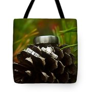 Pine Cone And Wedding Band Tote Bag