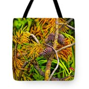 Pine Cones And Needles On A Branch Tote Bag