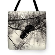 Pine Cones In The Treetops Tote Bag
