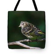 Pine Siskin Tote Bag