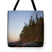 Pine Trees Along The Rocky Coastline Tote Bag