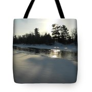 Pine Trees Casting Shadows Tote Bag