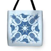 Pineapple And IIwi Hawaiian Quilt Block Tote Bag