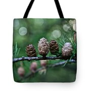 Pinecone Party Line Tote Bag