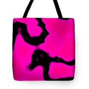 Pink And Black Abstract Tote Bag