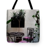 Pink And Purple Patio Tote Bag