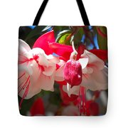 Pink And Red Fuchsia Tote Bag