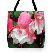 Pink And White Ruffled Fuschias Tote Bag