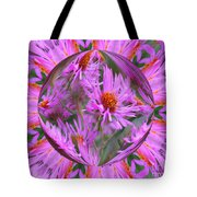 Pink Asters Energy Tote Bag