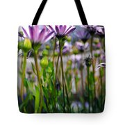 Pink Blossoming Flowers Tote Bag