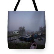 Pink Canoe Tote Bag by Dawn OConnor