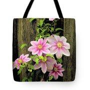 Pink Climatis Flower Tote Bag