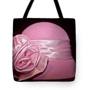 Pink Cloche Hat Tote Bag