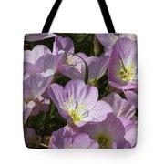 Pink Evening Primrose Wildflowers Tote Bag