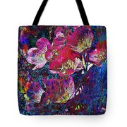 Pink Floral Abstract Tote Bag
