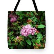 Pink Flowers Of Little Bavaria Tote Bag