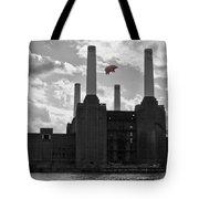 Pink Floyd Pig At Battersea Tote Bag