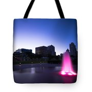 Pink Fountain Tote Bag