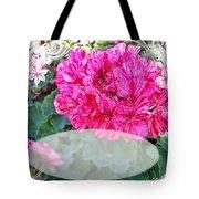 Pink Geranium Greeting Card Blank Tote Bag