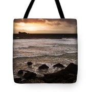 Pink Granite Coast At Sunset Tote Bag