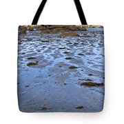 Pink Granite Island In Low Tide Tote Bag