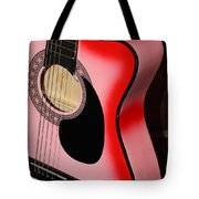 Pink Guitar Tote Bag
