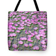 Pink Ice Plant Flowers Tote Bag