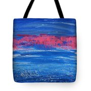 Pink In Sky Over Whitecaps Tote Bag