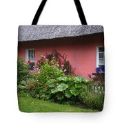 Pink Irish Cottage Tote Bag