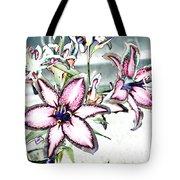 Pink Lilies Tote Bag