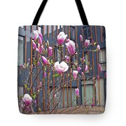 Pink Magnolia. Square Format Tote Bag