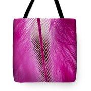 Pink Marabou Macro Tote Bag