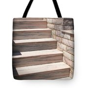 Pink Marble Staircase In Patmos Greece Tote Bag