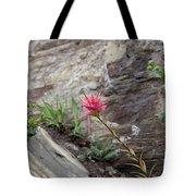 Pink Mountain Flower Tote Bag